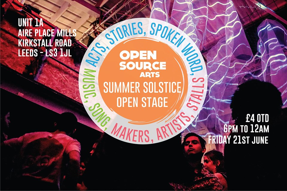 summer solstice mini festival open stage craft market art performance event food leeds kirkstall hyde park burley