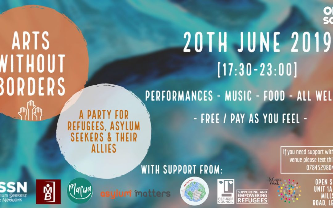 Arts Without Borders: A Party for Refugees, Asylum Seekers and Their Allies
