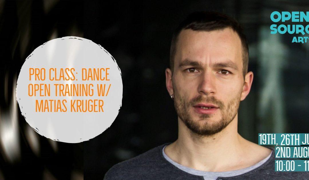 Pro Class: Dance Open Training w/ Matias Kruger