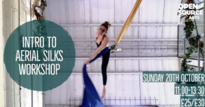 Introduction to Aerial Silks Workshop @ Open Source Arts