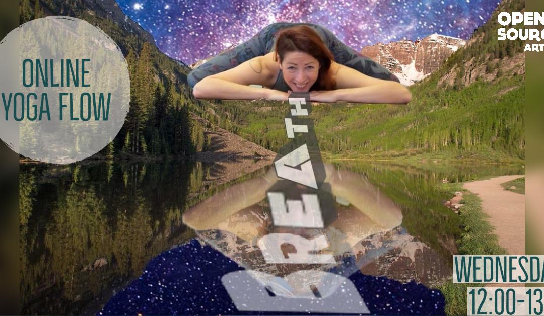lunchtime online virtual yoga izzy stretch yogi leeds kirkstall creative movement move meditate relax fitness